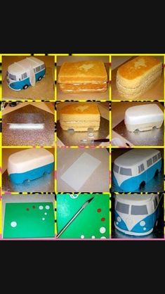 New Cupcakes Fondant Decoration Design Cake Tutorial Ideas Decoration Patisserie, Dessert Decoration, Decoration Cupcakes, Decoration Design, Fondant Cupcakes, Cupcake Cakes, Car Cakes, Fondant Cake Tutorial, Bus Cake