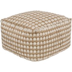 Like an elegant cloud, the pouf combines cotton and wool for an ultra-soft touch. Use this pouf in a contemporary or traditional setting and relax in style.