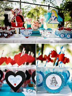 Alice in Wonderland Birthday Party {Whimsy + Fantasy} // Hostess with the Mostess® Alice In Wonderland Birthday, Wonderland Alice, 1st Birthday Girls, First Birthday Parties, First Birthdays, Pink Christmas Decorations, Fete Halloween, Party, Wonderland