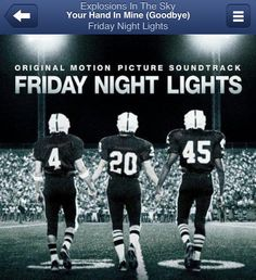 Explosions in the Sky - Friday Night Lights: Original Motion Picture Soundtrack (CD) Best Football Movies, Love Movie, Movie Tv, Friday Night Football, School Football, Sky Home, Light Film, Slow Dance, Win Or Lose