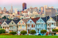 Victorian Homes Steiner Street in San Francisco, USA  There are numerous brightly painted Victorian and Edwardian houses throughout America, but it's the San Francisco houses for which the term 'Painted Ladies' was coined. You'll see the most resplendent examples in Haight-Ashbury at 710–720 Steiner Street. Built in the late 1880s, this group of 'Painted Ladies' are a real tourist attraction and have featured in movies, TV shows and ad campaigns.