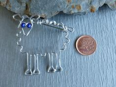 Your place to buy and sell all things handmade Bari, Wire Work, Blue Eyes, Wire Wrapping, Brooches, Sheep, Jewelry Making, Drawings, Metal