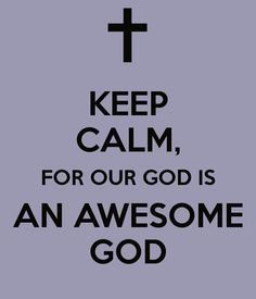 Our God is awesome, isn't He?