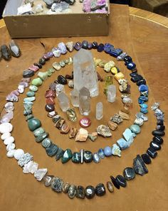 Sage Goddess HQ Master Crystal Grid - I like to play with symbols when gridding, like this nautilus.