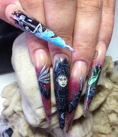 Day 297: Edward Scissorhands Nail Art - Nails Magazine