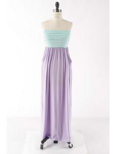 Mint/Lilac Maxi Dress