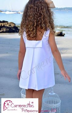 bow in back of dress Little Girl Outfits, Little Girl Fashion, Little Girl Dresses, Kids Outfits, Kids Fashion, Baby Girl Dresses, Baby Dress, Toddler Dress, Kind Mode