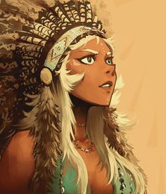 Allura, Native American AU A painting practice I did of Allura using a native American outfit :3 Edit- This only was for fun, I saw a girl using one of these headress and I thought Allura will looks so cute with one of these #solkorra #nativeamerican #allura #princessallura #crossover #voltronau #voltron #voltronlegendarydefender