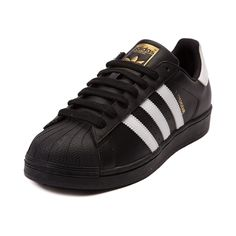adidas black superstar mens