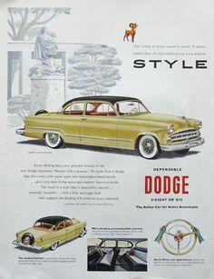 1953 Dodge Coronet V8 Club Coupe Ad - #RetroReveries