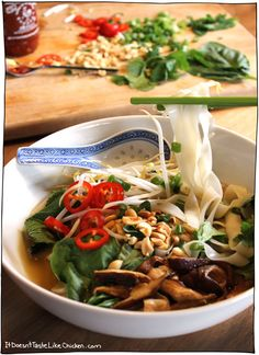 Quick vegan pho. A t