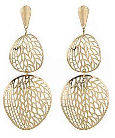 Double-Drop Leaf Filigree Earrings #maxandchloe