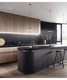 Inspirational ideas about Interior Interior Design and Home Decorating Style for Living Room Bedroom Kitchen and the entire home. Curated selection of home decor products. Modern Kitchen Design, Interior Design Kitchen, Kitchen Decor, Küchen Design, Home Design, Scandinavian Style Home, Studio Kitchen, Elegant Kitchens, Home Decor