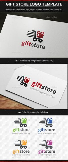 Gift Store Logo Template - Objects Logo Templates