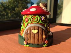 Fairy Garden House or Gnome Home Polymer Clay by LovelyGiftStore