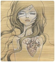 Audrey Kawasaki- love the contrast of the beautiful girls and wood with the creepy surrealist edge