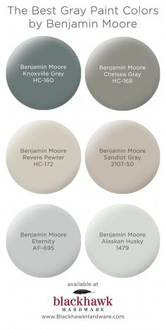 We& in love with these best six gray paint colors by Benjamin Moore The Best. The post The Best Gray Paint Shades by Benjamin Moore appeared first on Bruce Kennels. Best Gray Paint, Blue Gray Paint Colors, Paint Colors For Home, House Colors, Paint Colours, Neutral Paint, Bluish Gray Paint, Paint Color Schemes, Paint Colors Master Bedroom