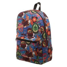 Ready Player One OASIS Patches Backpack, Polyester Sublimated Knapsack with Pocket, Gamer Tech Ready