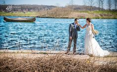 The viking boat in the background just adds a great feeling. Tony and Amanda wedding. Photo by Doru Halip - H Photography