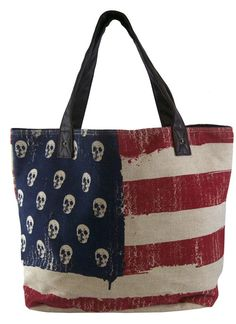 American Flag Tote by Loungefly #InkedShop #tote #America #flag #bag #UnitedStates #AmericanFlag