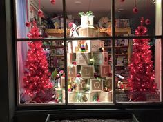 Glad Tidings - Holiday Window 2015  This tree conveys our good wishes: Love, Joy, Peace, Gratitude, Generosity, Kindness, Patience, and Cheer.