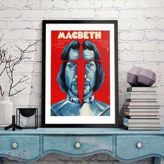 Machbet Roman Polanski hungarian vintage movie posters in interior design/ régi, eredeti plakátok a lakberendezésben