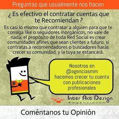 Es efectivo contratar cuentas que te recomiendan ? #agenciasmm #maracaibo #medellin #bogota #aumentarventas #latinoamerica #redessociales