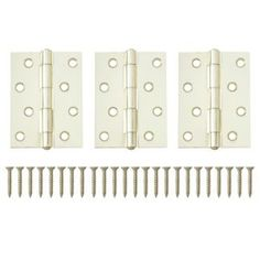 #B&Q Brass Effect Metal Butt Hinge Pack of 3 #Brass Effect Metal Butt Hinge Pack of 3.These brass effect metal butt hinges are suitable for hanging doors in and around the home. Fixings supplied for quick and simple installation.