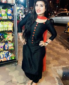 #pintrest@Dixna deol Churidar Designs, Kurti Neck Designs, Blouse Designs, Punjabi Suit Neck Designs, Neck Designs For Suits, Punjabi Dress, Punjabi Suits, Pakistani Dresses, Punjabi Fashion