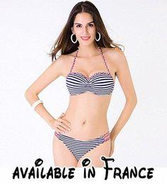 Thatch Maillot de bain pour femme Bikinis Maillots deux pièces Fashion Sexy,Green,7XL