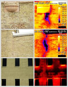 Wall moisture detected using qualified infrared scanning techniques at ICS. #wall_moisture