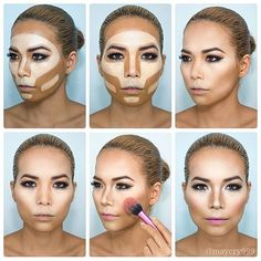 How to contour for people with a large forehead and big cheeks @maycry999  #thebeautybombb