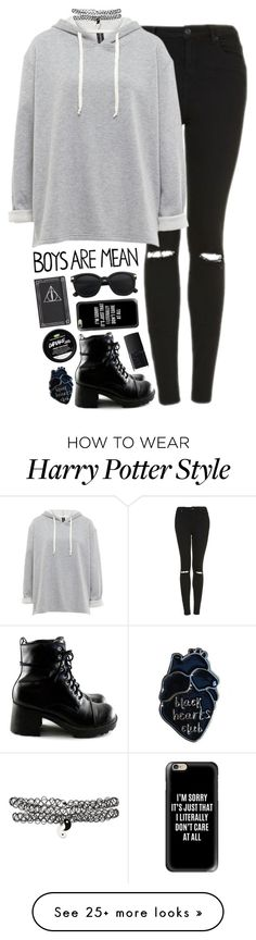 """All Black"" by dead-sea-princess on Polyvore featuring Topshop, Casetify, NARS Cosmetics and vintage"