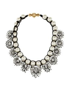 Shourouk Crystal Necklace #refinery29