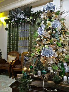 It is the Christmas in the heart that puts Christmas in the air. Happy Christmas everyone! #35DaysToGo #WoodlandCabinWonderlandAndFloralThemedDecors #GreenWhiteGoldAndSilverColorScheme #Woodland #ChristmasTree #ChristmasDecorsIdea #ChristmasDecors