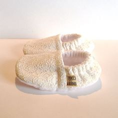 Handmade White Lace Booties