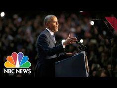 President Barack Obama's Farewell Address (Full Speech) | NBC News - YouTube