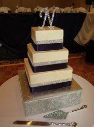 My Photo Album Wedding Cakes Photos on WeddingWire Ivory Wedding Cake, Square Wedding Cakes, Wedding Cake Photos, Wedding Photo Albums, Purple Cakes, My Photo Album, Noodles, Bakery, Desserts