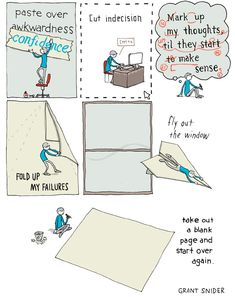 Corrections, A Clever Comic Illustrating the Many Ways to Fix Mistakes During the Creative Process  by Justin Page at 10:21 am on August 27, 2014