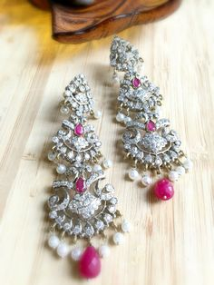 Indian chandelier Earrings by PearlCityJewelry on Etsy