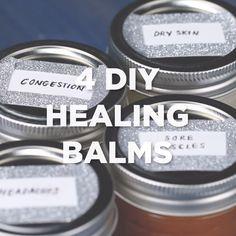 4 DIY Healing Balms