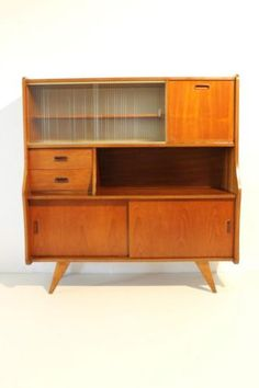 Vintage jaren 50/60/70 retro deens design wandkast/ dressoir