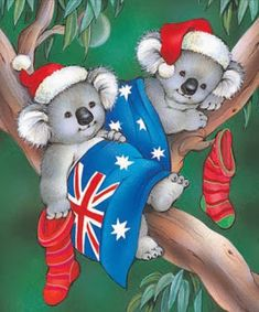 Inkspirational Designs: Past Christmas Craft Tutorials Australian Christmas Cards, Aussie Christmas, Summer Christmas, Christmas Art, Christmas Decorations, Christmas Stuff, Vintage Christmas Cards, Christmas Pictures, Xmas Cards