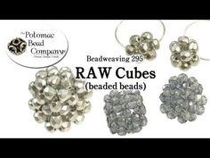 ▶ How to make RAW Cube Beads (Beadweaving 295) - YouTube tutorial from The Potomac Bead Company http://www.potomacbeads.com - Buy jewelry-making supplies online: http://www.thebeadco.com