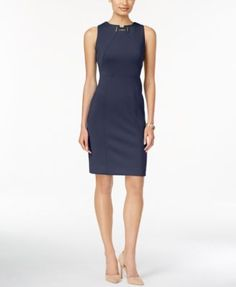 Ivanka Trump Sleeveless Toggle Sheath Dress | macys.com