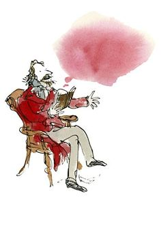 Author Illustrations by Quentin Blake for Stylist Magazine - Charles Dickens