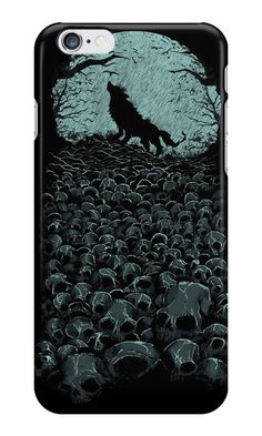 """Midnight Hunter"" iPhone Cases & Skins by Lou Patrick Mackay 