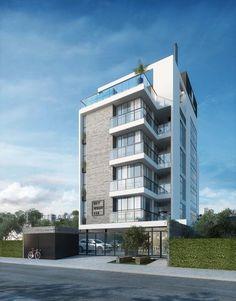 Apartment building elevation floors 30 Ideas for 2019 Building Front, Mix Use Building, Building Facade, Building Design, Building Elevation, House Elevation, Facade Design, Exterior Design, Futuristic Architecture