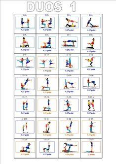 gymnastics partner balance activities  equilibrios