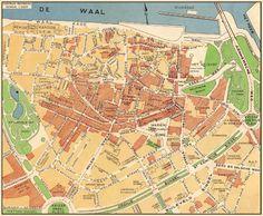 CITO-PLAN ''Ideaal'' Plattegrond 3e nieuwe druk kaart nr. 32 - ca. 1950
